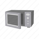 appliances, cooking, household, kitchen, microwave, oven icon
