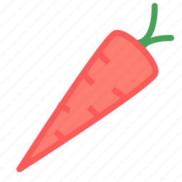 carrot, healthy, vegetable icon
