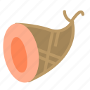 food, meat, smoked, wrapped icon