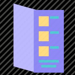 listing, menu, restaurant icon