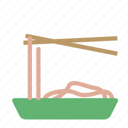chopstick, dish, food, noodles, plate icon