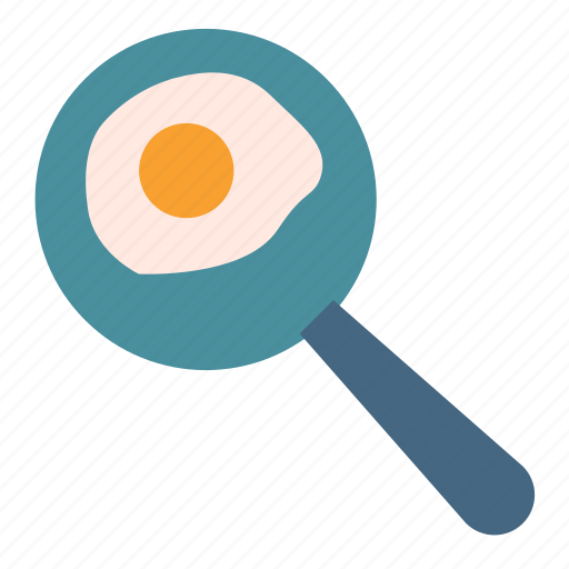 breakfast, cooking, egg, fried, pan icon