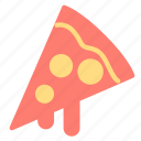 food, italian, pizza, slice icon
