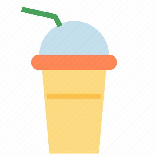cup, fresh, smoothie, straw icon