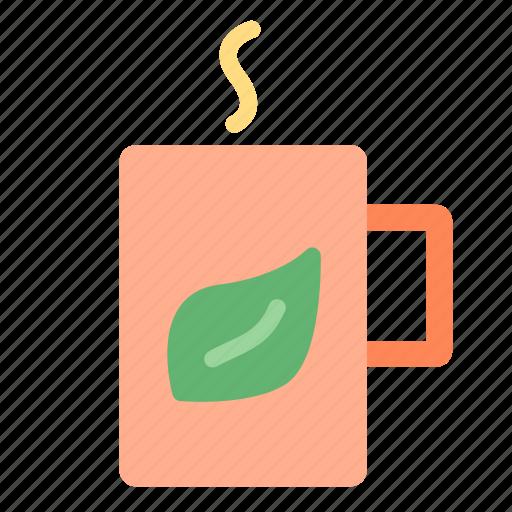 cup, hot, leaf, tea icon