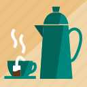 cafe, coffee, drink, kettles, kitchen, restaurant, tea icon
