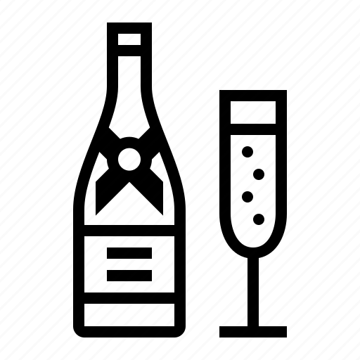 bottle, champagne, cooking, drink, food, kitchen icon