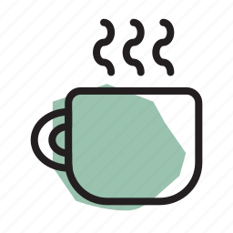 coffee, cup, drink, hot, morning, mug, tea icon