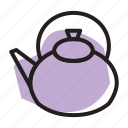 coffee, kettle, tea, tea kettle icon