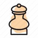 cooking, kitchen, mill, pepper, spice icon
