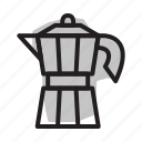 coffee, espresso, percolator icon