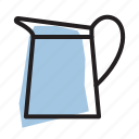 drink, kitchen, pitcher, water icon
