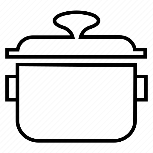 cooker, cooking pot, kitchen items, kitchen utensils, rice steamer icon