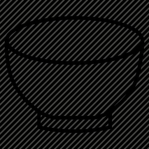 bowl, food bowl, kitcheb utensils, kitchen items icon