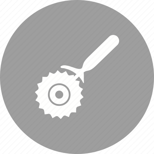 cooking, cutter, food, knife, pizza, steel, wheel icon