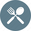 cutlery, fork, knife, meal, metal, spoon, utensil