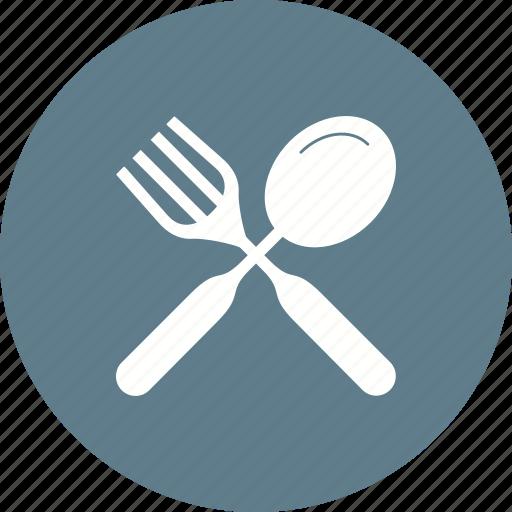 cutlery, fork, knife, meal, metal, spoon, utensil icon