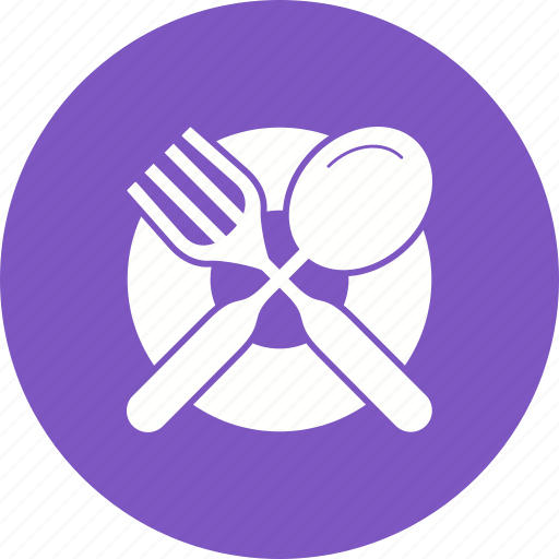 cutlery, dinner, food, fork, kitchen, plate, table icon