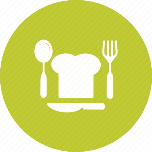 chef, cutlery, fork, knife, meal, metal, spoon icon