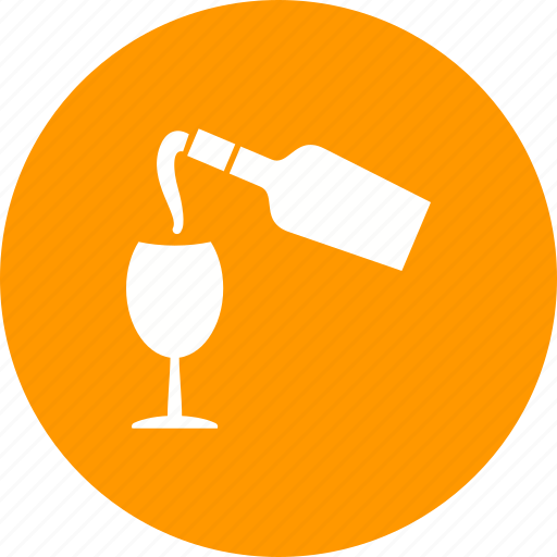 alcohol, drink, glass, pouring, red, restaurant, wine icon