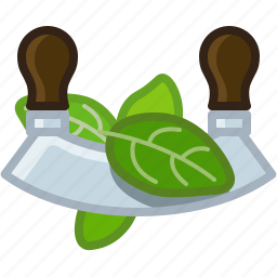 blade, chopper, cooking, cutting, herb, knife, yumminky icon