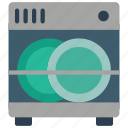 appliance, clean, dish, kitchen, utilities, wash, washer icon