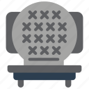 baking, cooking, grill, kitchen, utilities, waffle icon