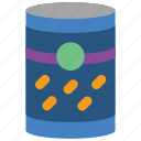 beans, can, cooking, food, kitchen, objects, tin icon
