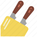 baking, block, cooking, kitchen, knife, utilities icon