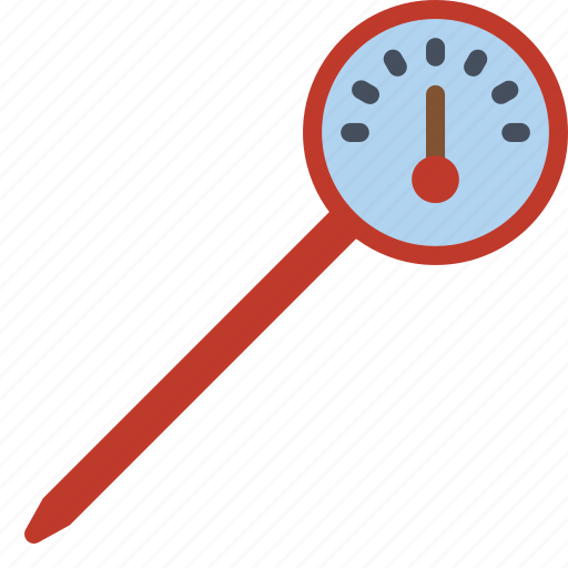 baking, cooking, kitchen, meat, roast, thermometer, utilities icon