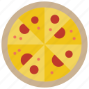 dinner, food, italian, kitchen, meal, pizza, tray icon