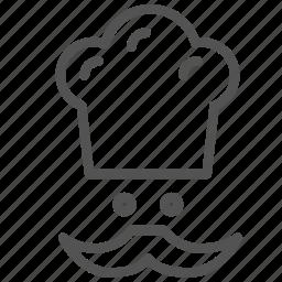 avatar, chef, hat, moustache icon