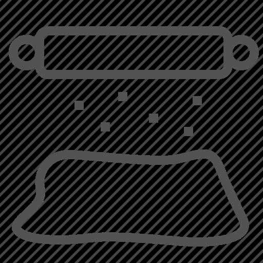dough, equipment, roller, tool icon