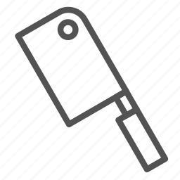 butcher, equipment, knife, tool icon