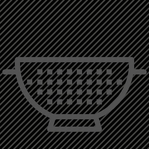 equipment, food, strainer icon