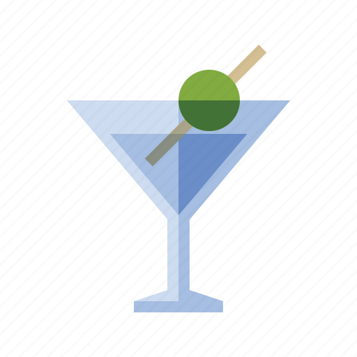 alcohol, booze, drink, food, martini, olive icon