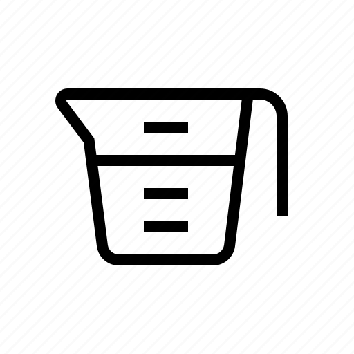 baking, cook, food, kitchen, measuring cup, mixing cup icon