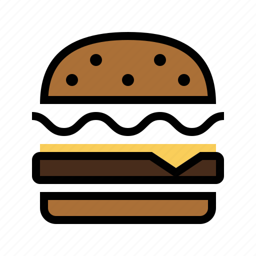 bacon, burger, cheese, fast food, food, grill, kitchen icon
