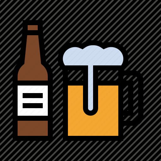 beer, booze, bottle, brew, craft beer, drink, kitchen, mug icon