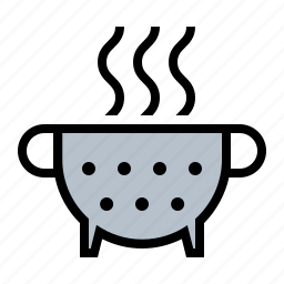 collander, food, kitchen, noodles, speghetti, strainer icon