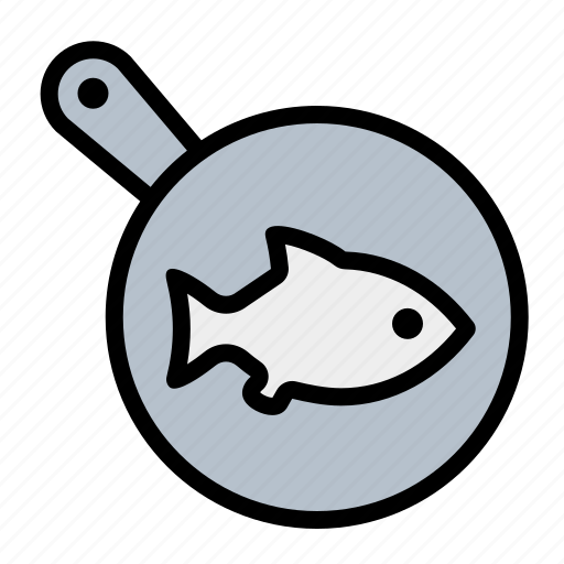 cook, fish, food, fry, frying pan, kitchen icon