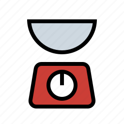 chef, cook, food, kitchen, scale, weigh, weight icon