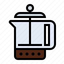 caffeine, coffee, drink, food, french press, kitchen, percolator icon