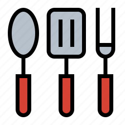 cookout, food, fork, grill, grilling utensils, spatula, spoon icon