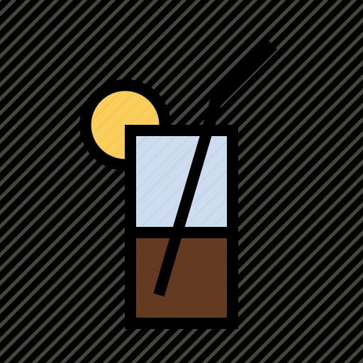 alcohol, booze, drink, food, iced tea, lemon icon