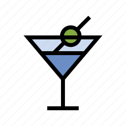 alcohol, booze, drink, food, martini, olive, vodka icon