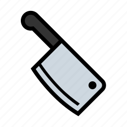 butcher, chop, cleaver, cook, food, kitchen, meat icon