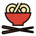asian, bowl, chopstix, food, kitchen, noodle, ramen icon
