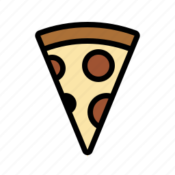 food, italian, kitchen, pepperoni, pizza, slice icon