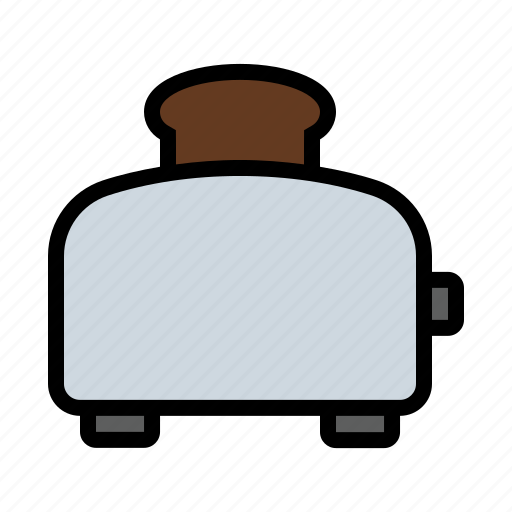 appliance, bread, food, kitchen, toast, toaster icon